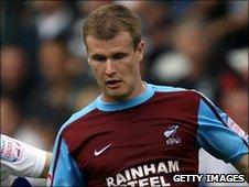 Scunthorpe United midfielder Michael O'Connor