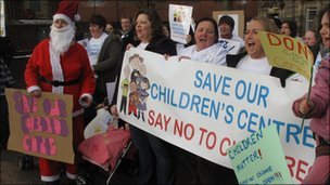 Protest in Stoke-on-Trent