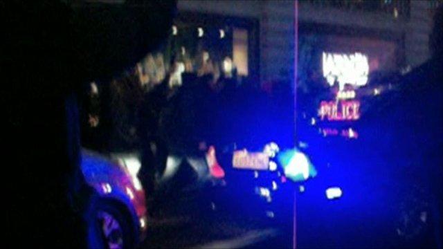 Police car in Royal convoy
