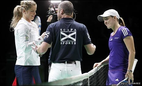 Kim Clijsters and Justine Henin