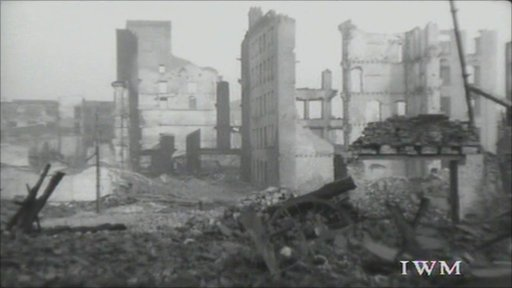 Bomb damage during Manchester Blitz
