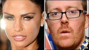 Katie Price and Frankie Boyle