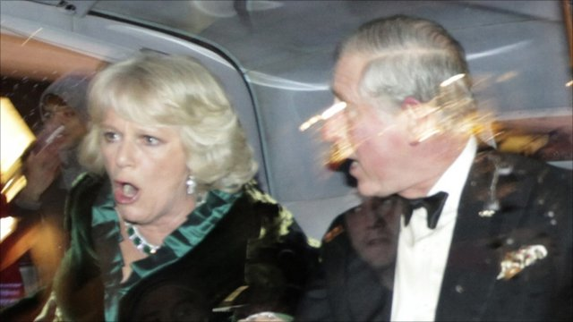 Duchess of Cornwall (left) and The Prince of Wales (right)