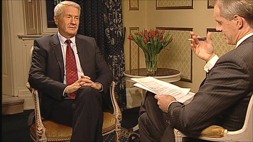 Thorbjørn Jagland and Stephen Sackur