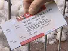 Ticket to see Take That