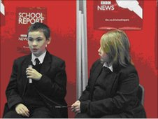 School Reporters at Whitley Abbey Business and Enterprise College in Coventry