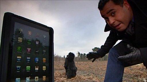 Marc Cieslak, an ape and a tablet