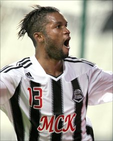 Mbeza Bedi celebrates scoring for TP Mazembe at the Club World Cup