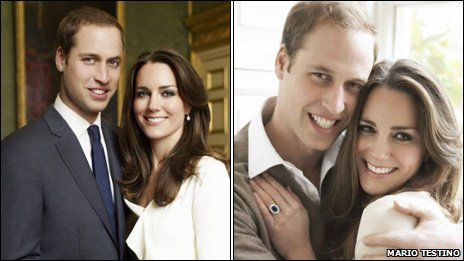 Prince William and Kate Middleton at St James's Palace. Copyright 2010 Mario Testino.