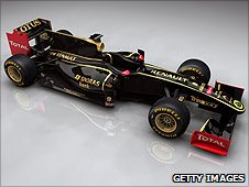 Lotus Renault in 2011 colours