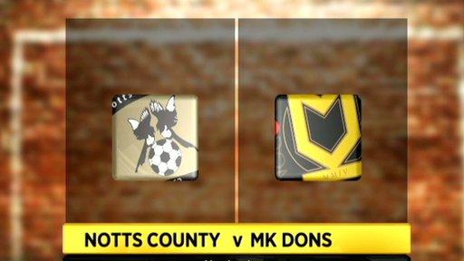 Notts County v MK Dons