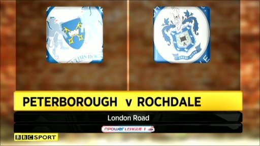 Peterborough 2-1 Rochdale