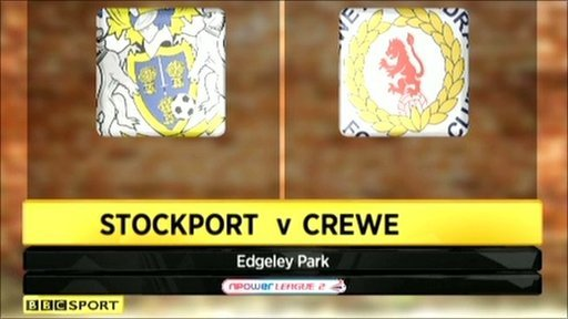 Stockport 3-3 Crewe