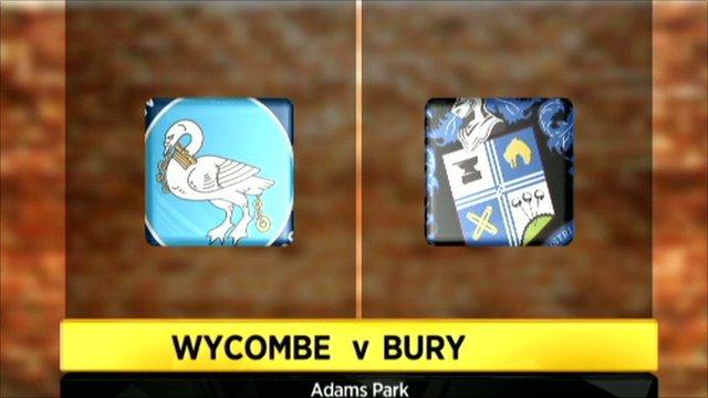 Wycombe 1-0 Bury