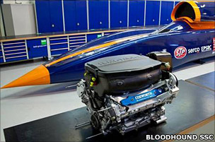 Cosworth engine and Bloodhound (Bloodhound SSC)