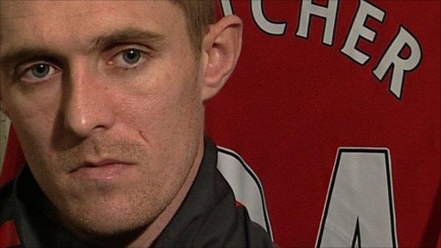 Manchester United midfielder Darren Fletcher