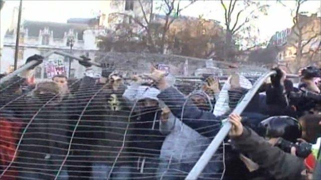 Disturbances in Parliament Square