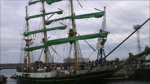 Tall Ship in Hartlepool
