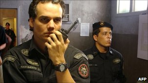 Brazilian actor Wagner Moura performs as Captain Nascimento in Elite Squad 2