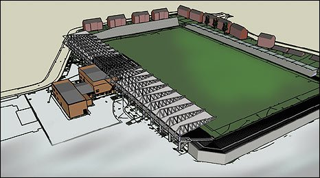 A drawing of the redeveloped Athletic Grounds in Armagh