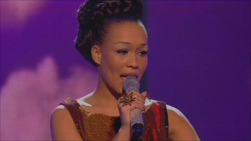 Rebecca Ferguson performs at X Factor final