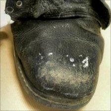 A boot belonging Mark Weston