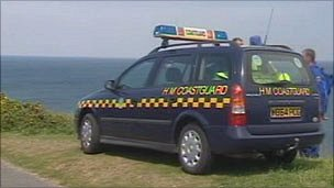 Coastguard vehicle at Strumble Head in Pembrokeshire