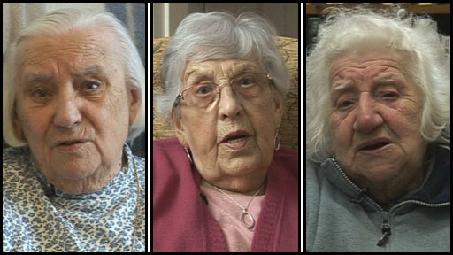 Three Sheffield women talking about the city's Blitz