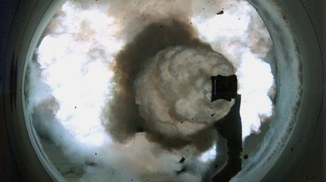 Navy railgun is fired