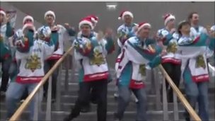 Belfast Giants Sing And Dance Festive Mariah Carey Hit