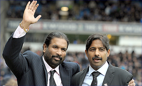 Indian brothers Balaji Rao (left) and Venkatesh Rao (right) recently took over at Blackburn Rovers