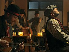 Members of the Florin Street Band in the video for 'My Favourite Time of Year'