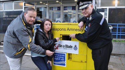 Mark Murphy, Holly Watson and Chief Constable Simon Ash