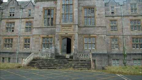 The former North Wales Hospital in Denbigh