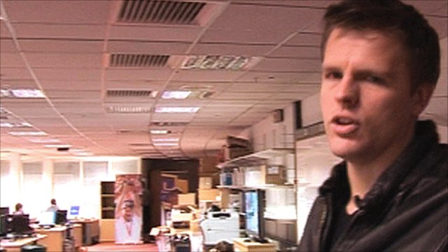 Jake Humphrey in the Sports Personality of the Year office