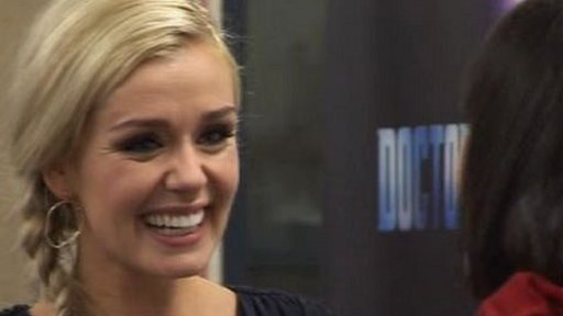 Katherine Jenkins at her old school