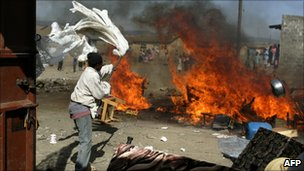 The scene of clashes in the Rift Valley town of Naivasha (Jan 2008)