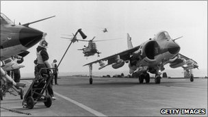 Harrier during Falklands War