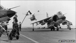 Harrier during Falklands War