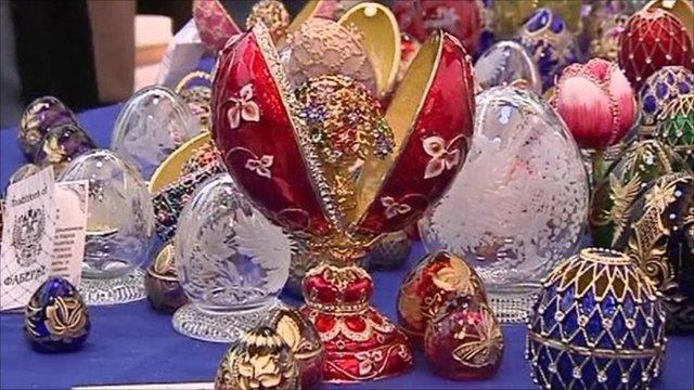Fake Faberge eggs
