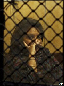 Niira Radia at the Enforcement Directorate after being questioned in Delhi on 24 November