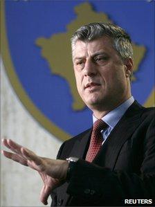 Kosovo PM Hashim Thaci (file pic)