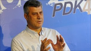 Kosovo PM Hashim Thaci (5 Dec 2010)
