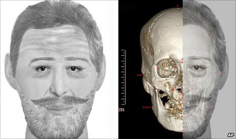 Composite of artist's impression and skull of Henry IV (AP)