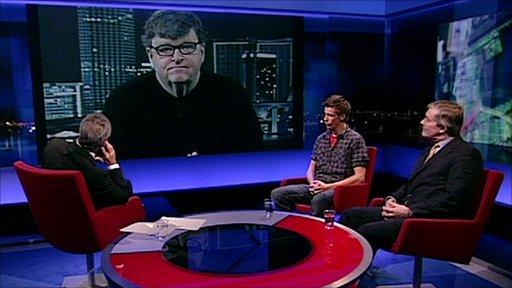 Gavin Esler, Michael Moore, Daniel Garvin and Patrick Mercer