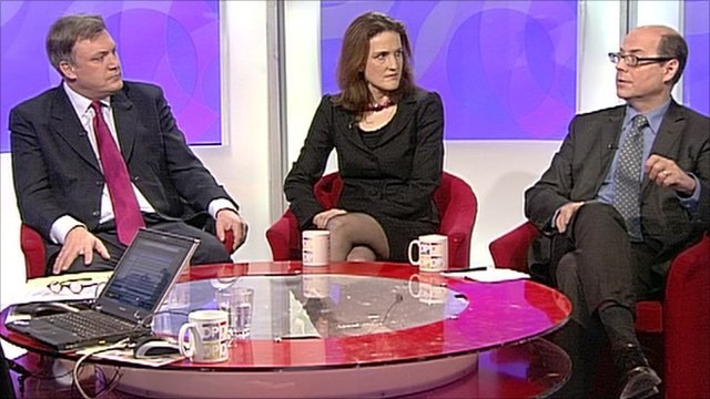 Ed Balls, Theresa Villiers and Nick Robinson