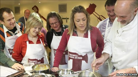 Sarah Beeny in Tideswell