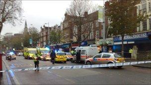 Police attack crime scene