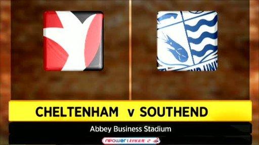 Cheltenham 0-2 Southend
