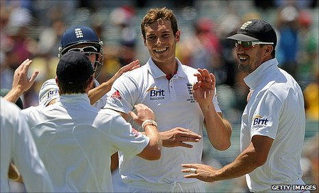 Chris Tremlett celebrates